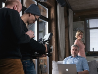 Съемка рекламного видеоролика Охта Парк