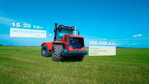 Трактор Кировец в поле