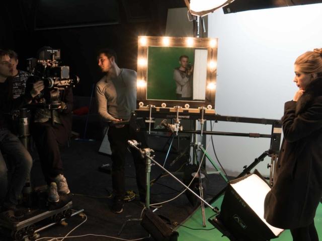 Съемочный процесс рекламного ролика