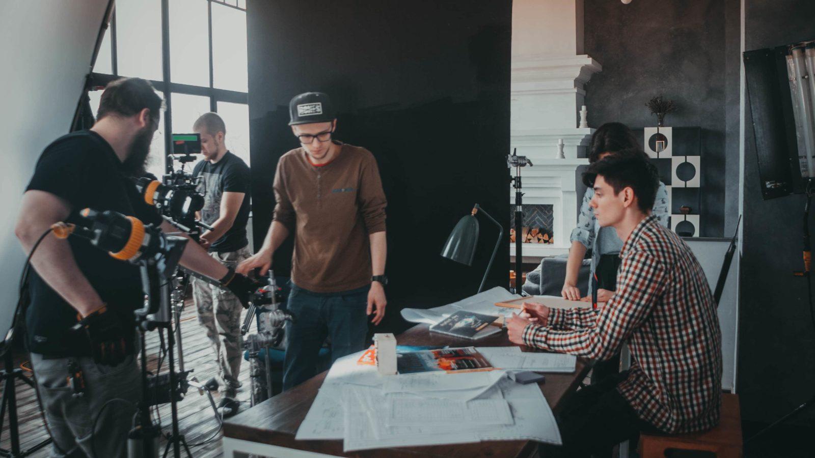 Подготовка к съемка рекламного ролика