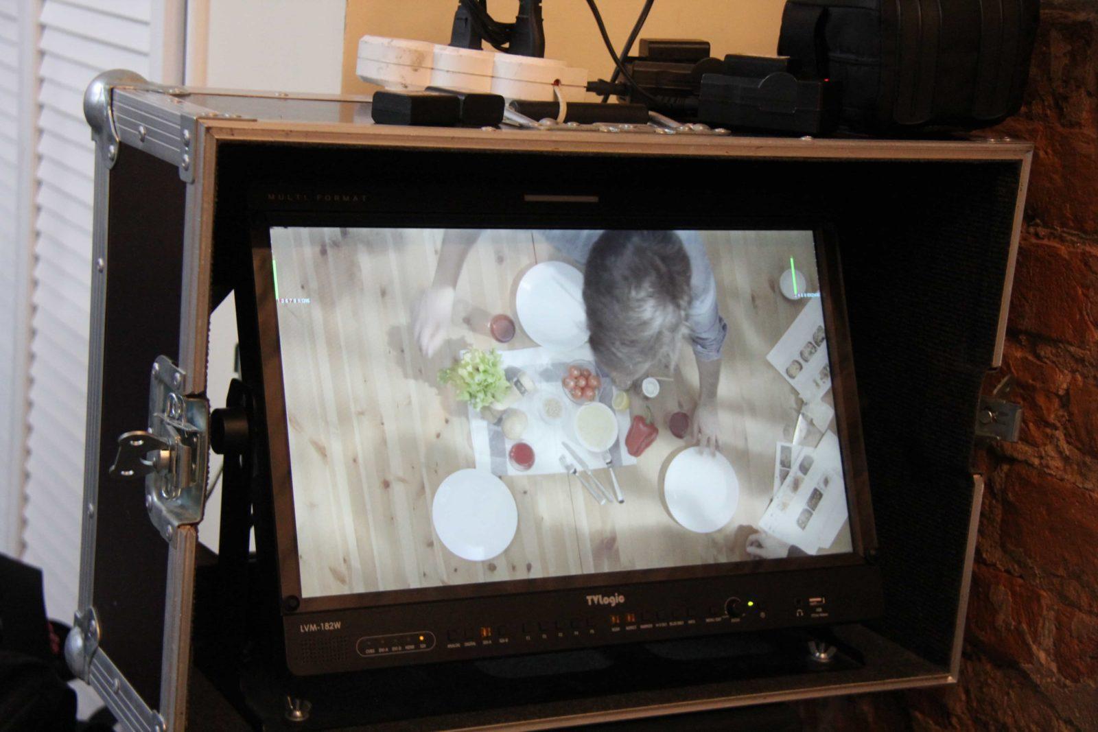 Съемка еды для рекламного ролика