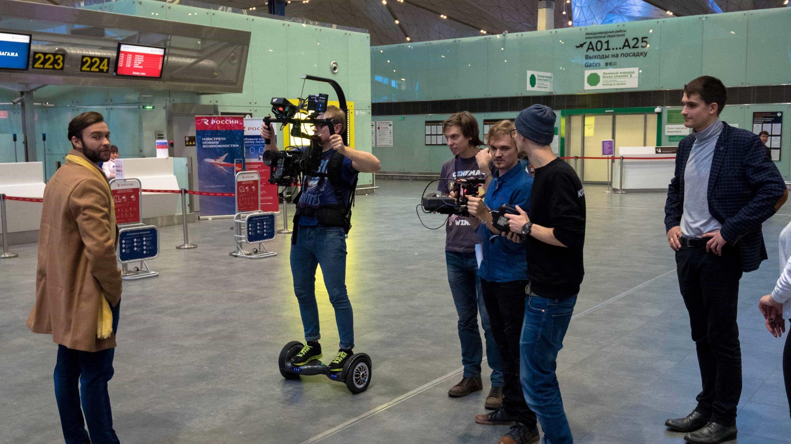 Съемки видеоролика для Пулково фото