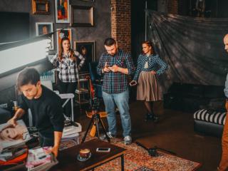 Подготовка к съемкам рекламного ролика